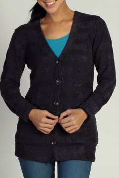 Irresistible Dolce Stripe Cardigan, Nocturnal, medium