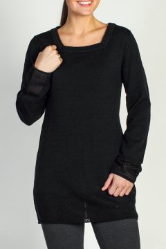 Cafenista Tunic, Black, medium