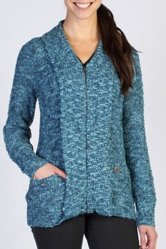 Icelandia Boucle Cardigan, Marina, medium