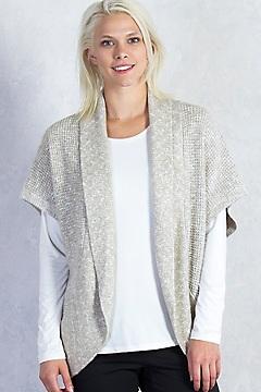 Lorelei Cocoon Wrap, Carbon Heather, medium