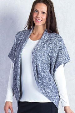 Lorelei Cocoon Wrap, Carbon Heather, medium