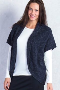 Lorelei Cocoon Wrap, Black Heather, medium