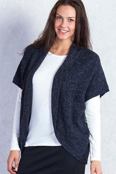 Lorelei Cocoon Wrap, Black Heather, medium