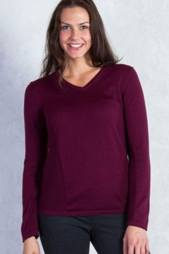 Milena V Neck, Brandy, medium
