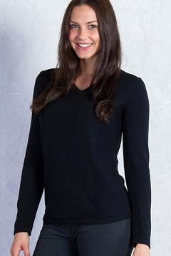 Milena V Neck, Black, medium