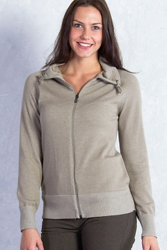 Milena Full Zip, Tawny Heather, medium