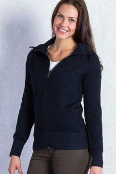 Milena Full Zip, Black Heather, medium