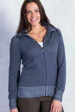 Milena Full Zip, Carbon Heather, medium