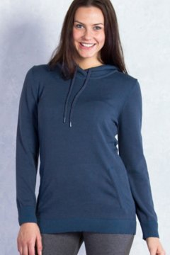 Milena Hoody Tunic, Carbon Heather, medium