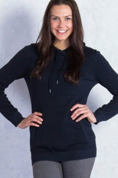 Milena Hoody Tunic, Black Heather, medium