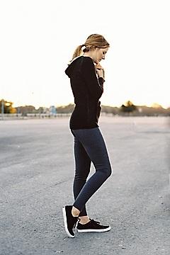 Milena Hoody Tunic, Carbon Heather, medium