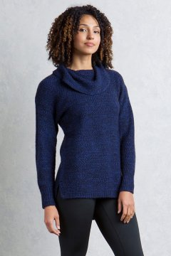 Sylvia Cowl Neck, Blueprint Marl, medium