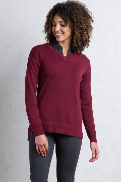 Granville V-Neck, Malbec, medium