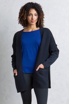 Gabriola Cardigan, Black, medium