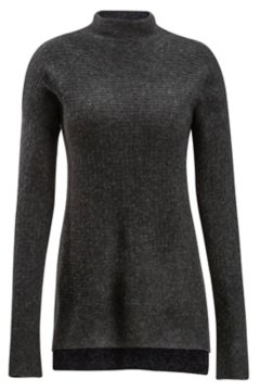 Pontedera Funnel Neck, Charcoal Heather, medium