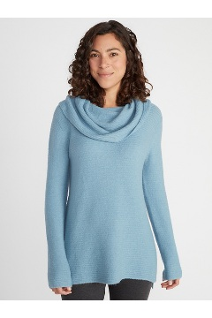 Women's Pontedera Cowl Neck, Blue Star, medium