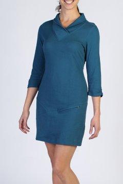 Fionna 3/4 Sleeve Dress, Marina, medium