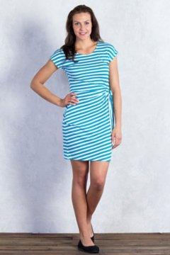 Salama Stripe Dress, Deep Sea Stripe, medium