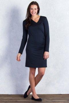Wanderlux Draped Dress, Black, medium