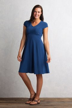 Kizmet Cap Sleeve Dress, Indigo, medium