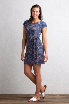 Salama Print Dress, Indigo, medium