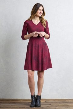 Wanderlux Sayward Dress, Malbec Print, medium