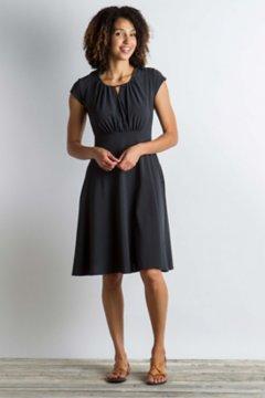 Kizmet Cross-Front Dress, Black, medium