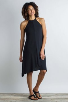 Wanderlux Halter Dress, Black, medium