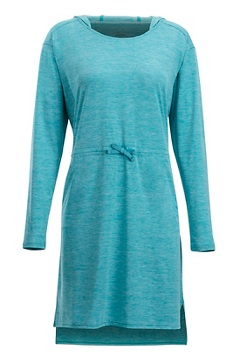Sol Cool Kaliani Hoody Dress, Algiers Blue, medium