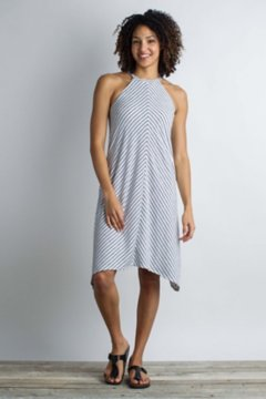 Wanderlux Stripe Halter Dress, White, medium