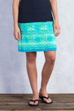 Wanderlux Reversible Print Skirt, Deep Sea Print, medium