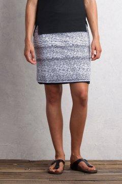 Wanderlux Reversible Print Skirt, Black/White, medium