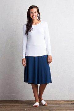 Wanderlux Reversible Midi Skirt, Indigo/Black, medium