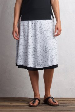 Wanderlux Reversible Midi Skirt, Platinum Marl/Black, medium
