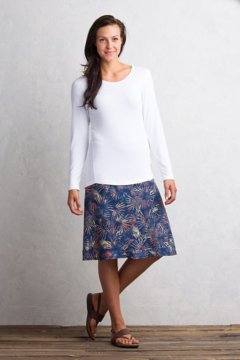 Wanderlux Convertible Print Skirt, Indigo, medium