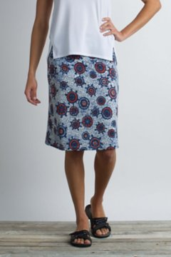 Wanderlux Short Skirt, Tile Print, medium