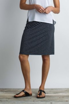 Wanderlux Stripe Short Skirt, Black, medium