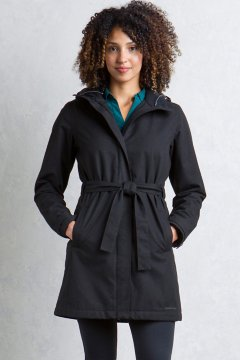 Iona Trench, Black, medium
