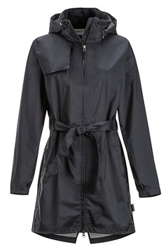 Women's Sunbury Trench, Black, medium