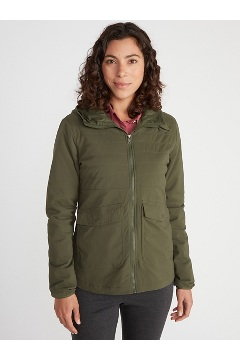 Women's Parga Insulated Hoody, Nori, medium