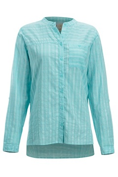 Women's BugsAway Collette Long-Sleeve Shirt, Mystic Blue, medium