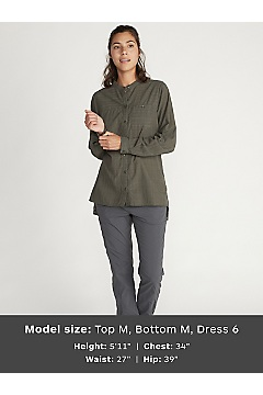 Women's BugsAway Collette Long-Sleeve Shirt, Nori, medium