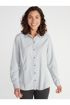 Women's BugsAway Brisa Long-Sleeve Shirt, Navy, medium