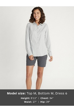 Women's BugsAway Brisa Long-Sleeve Shirt, Nori, medium