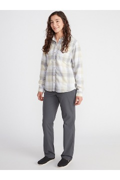Women's BugsAway Redding Midweight Flannel Shirt, Corydalis Blue, medium