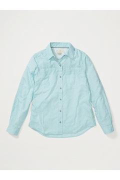 Women's BugsAway Palotina Long-Sleeve Shirt, Corydalis Blue Rain, medium