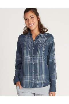 Women's BugsAway Palotina Long-Sleeve Shirt, Navy, medium
