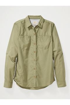 Women's BugsAway Palotina Long-Sleeve Shirt, Oil Green, medium