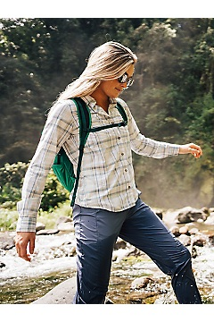 Women's BugsAway Palotina Long-Sleeve Shirt, Platinum, medium