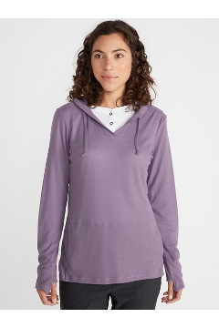 Women's BugsAway Lumen Hoody, Steel Onyx, medium